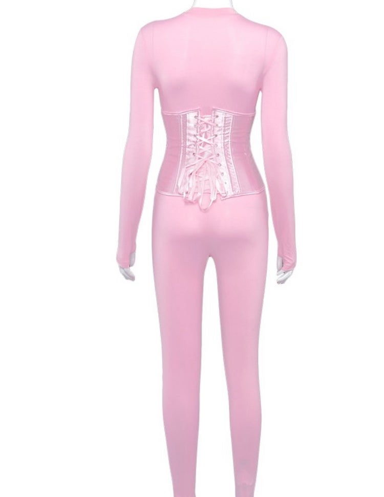 Pink Lace Corset