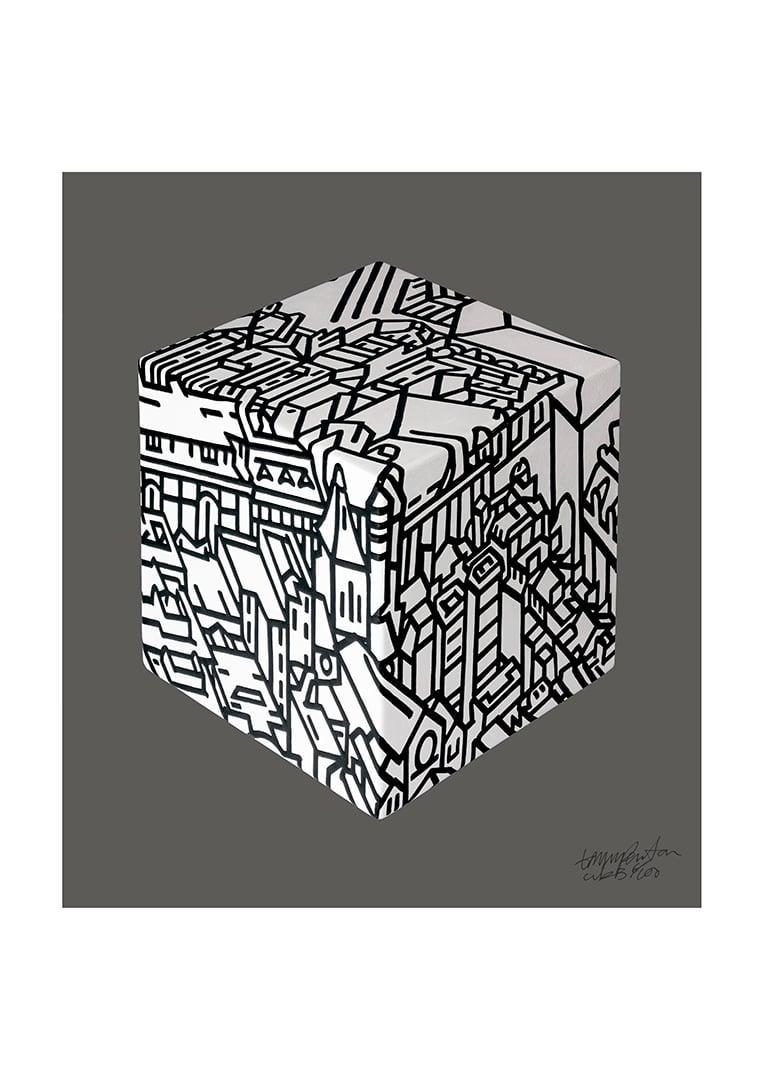 Image of Cube Black & White.