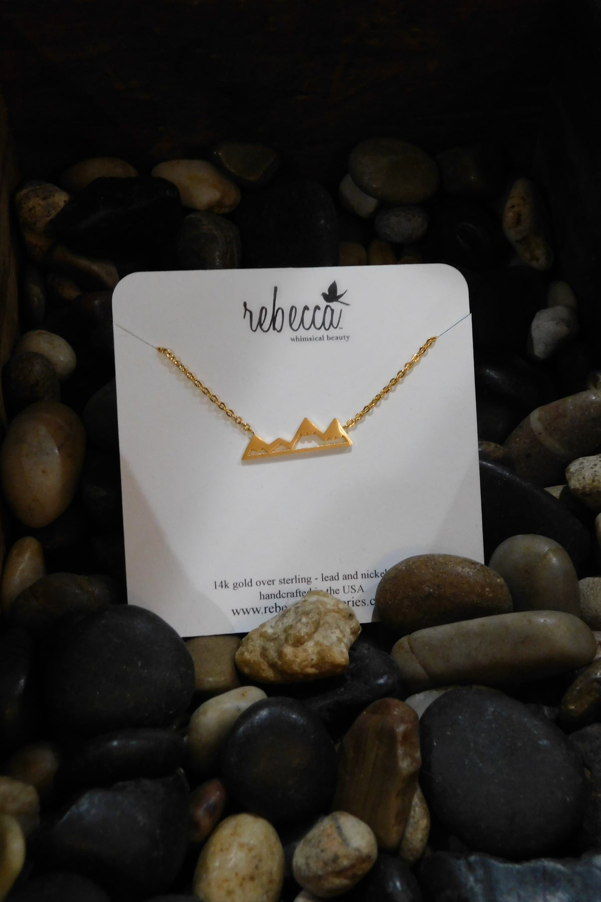 Image of Mountain Necklace Gold