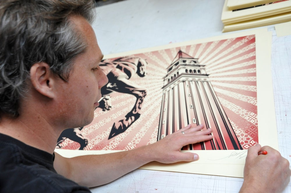 St. Mark's horses by Shepard Fairey (Obey)