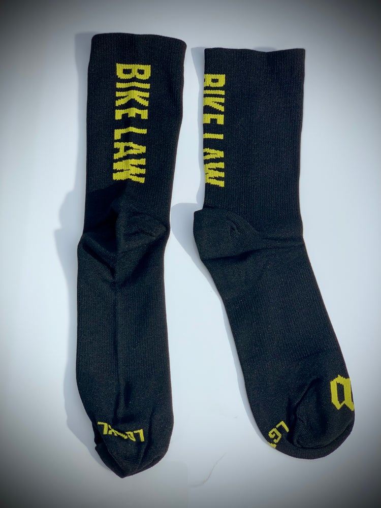 Image of Bike Law x Wattie Ink Socks - Black