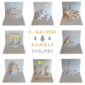 Image of X-MAS Template Bundle 2020 - PDF / SVG digital files