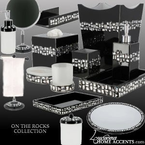 Image of Swarovski Crystal Custom Bath and Vanity Accessories - On The Rocks