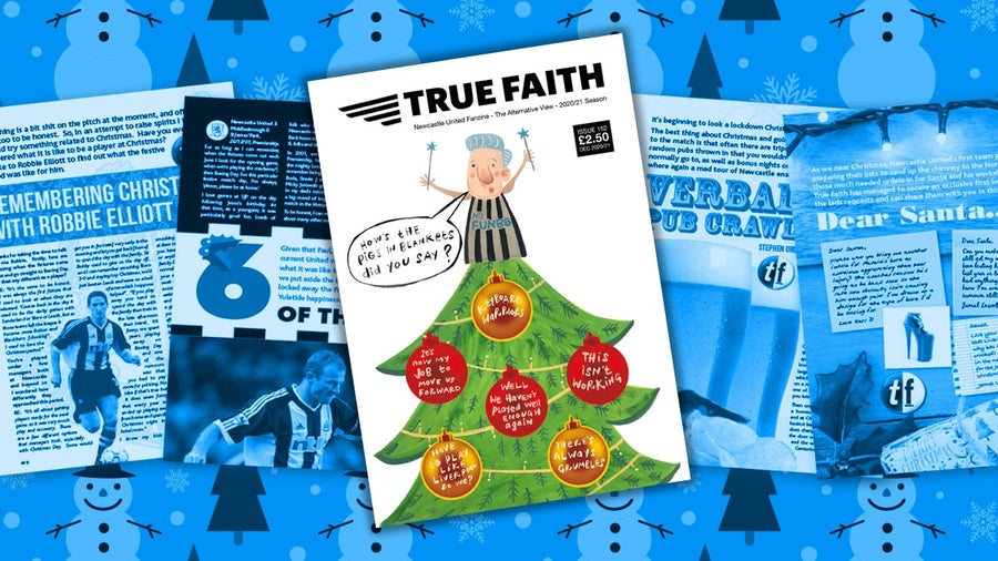 Image of TRUE FAITH ISSUE 152 CHRISTMAS SPECIAL DIGITAL 48 PAGE NUFC FANZINE