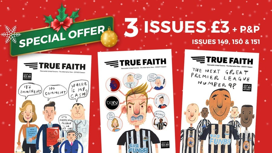 Image of TRUE FAITH BACK COPY THREE ISSUES FOR JUST £3 + P&P