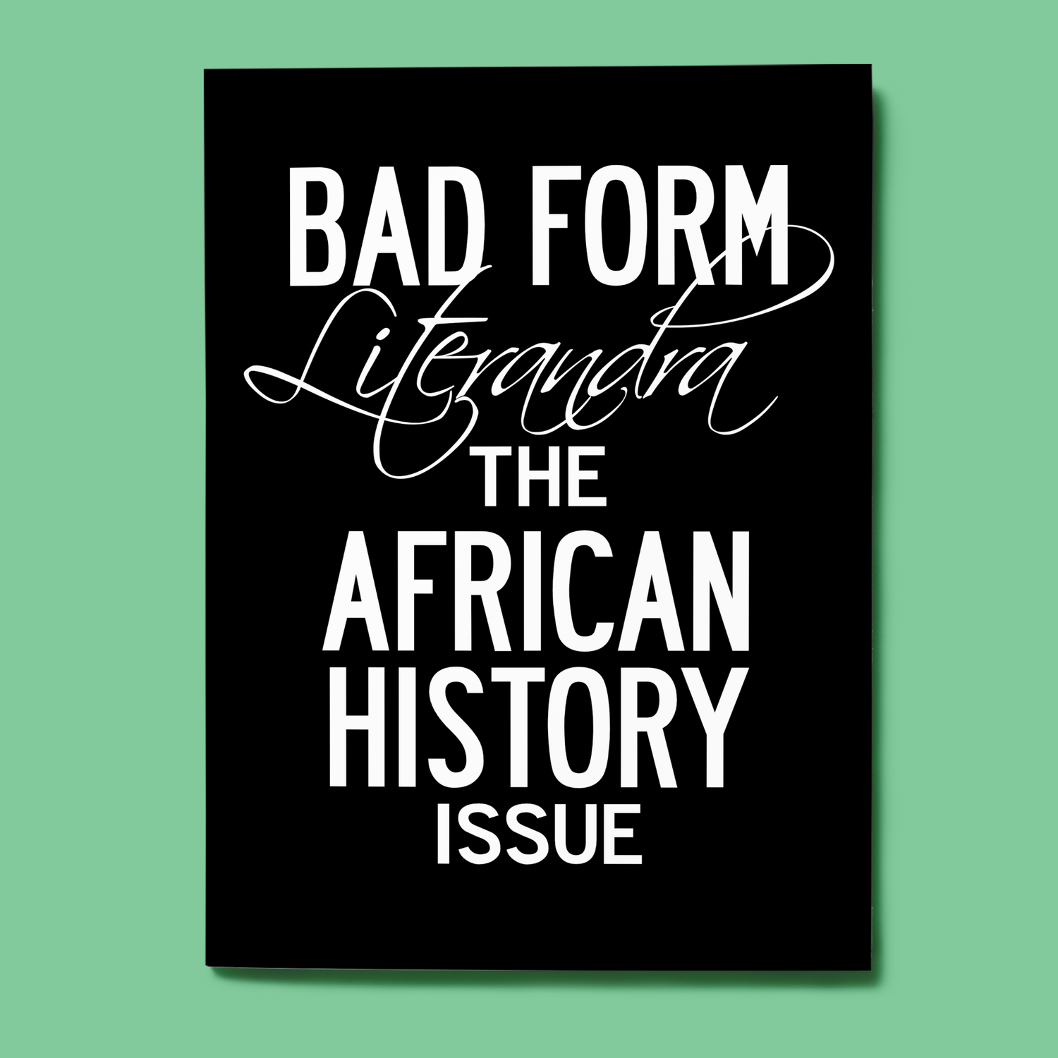 Image of Issue 5: African History