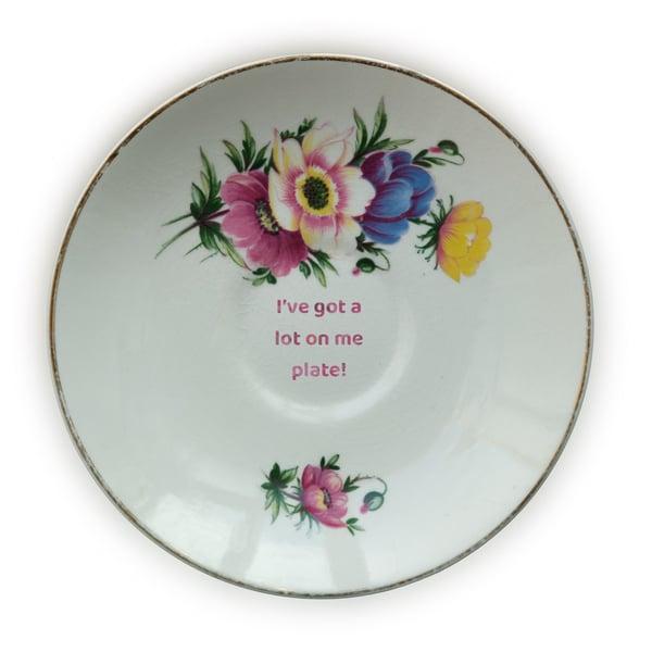 Image of I've got a lot on me plate! (Ref. 79)