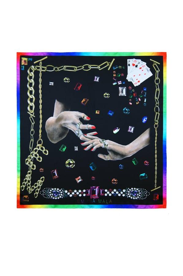 Image of Bijoux Silk Scarf