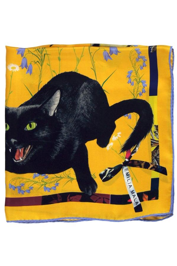 Image of CAT SAUVAGE / SUN Silk Scarf