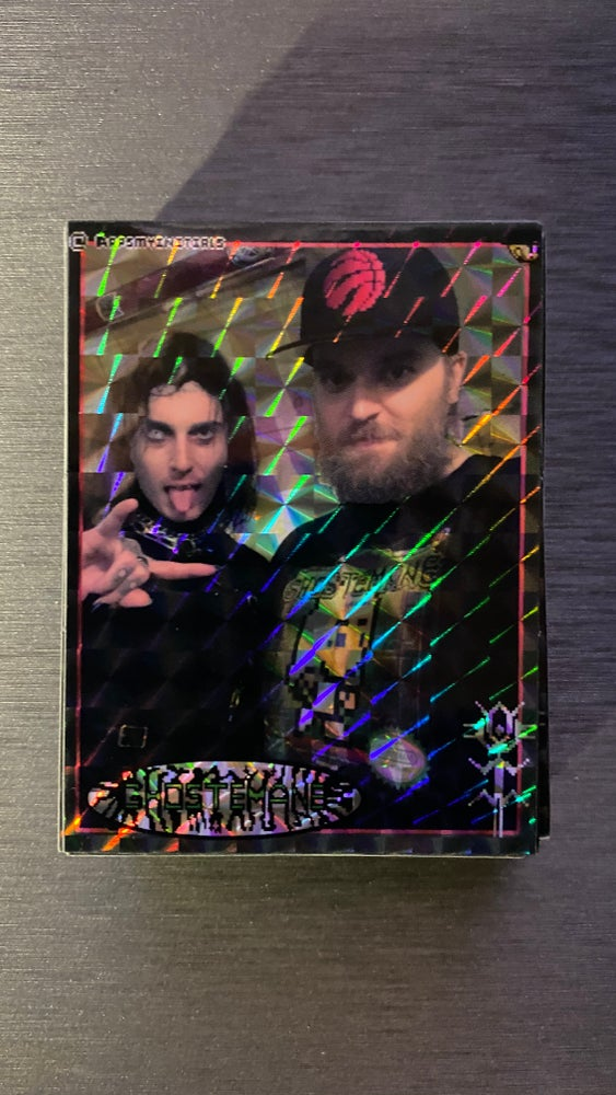 Image of Ghostemane/Rapsmyinitials Prismatic Sticker/Collector Card
