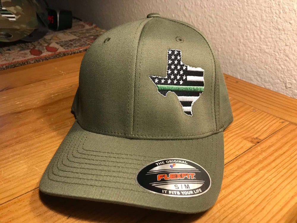 Image of GREEN LINE STATE FLAG FLEXFIT CAP