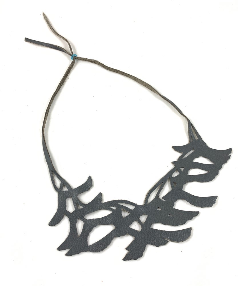 Image of Florence & Leah recycled leather necklace (maple samaras)