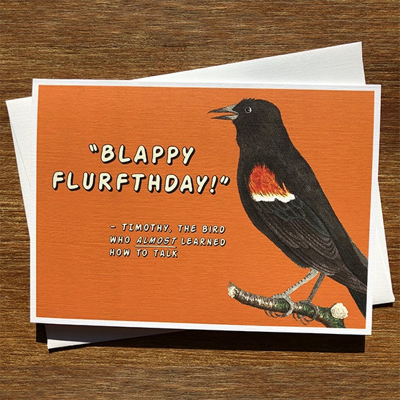 Image of Blappy Flurthday - Greeting Card - by David Holub