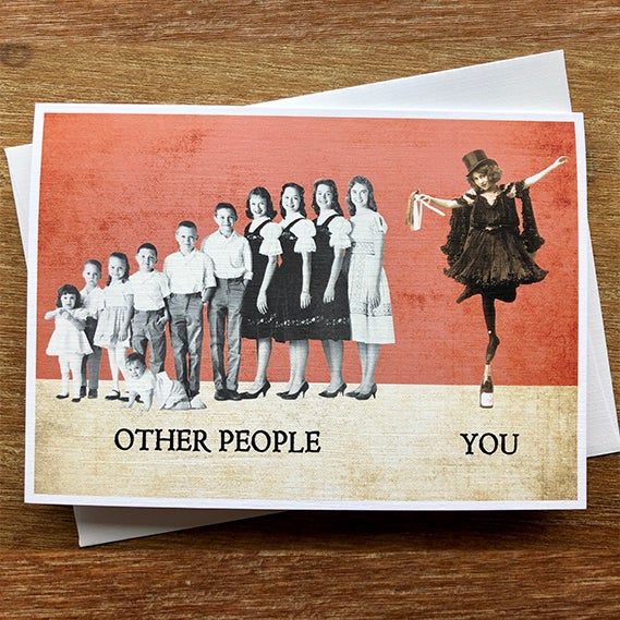 Image of You vs. Other People - Greeting Card - by David Holub