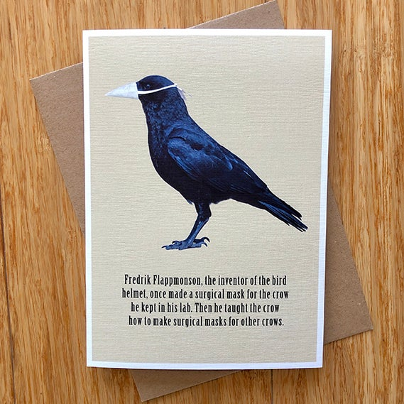 Image of Pandemic Crow - Greeting Card - by David Holub