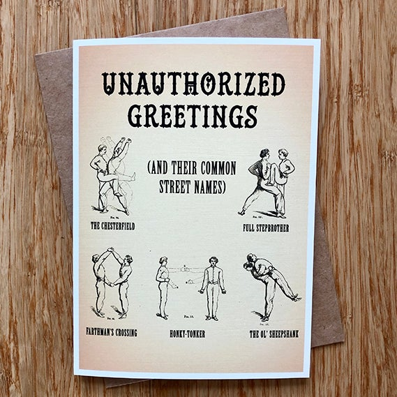 Image of Unauthorized Greetings - Greeting Card - by David Holub