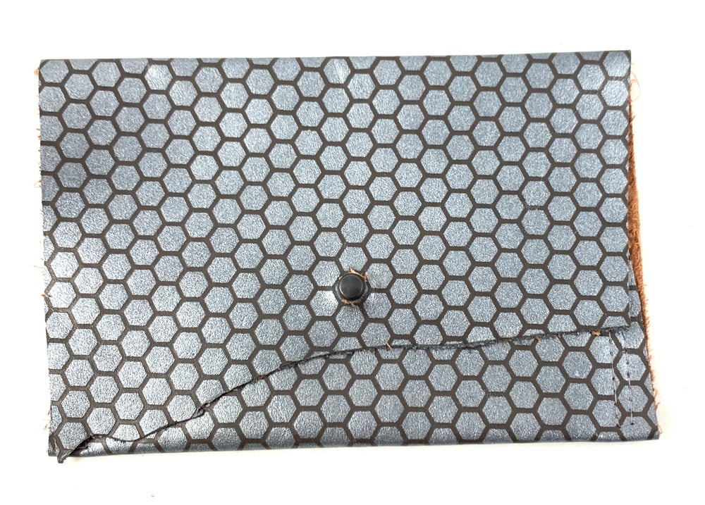 Image of pouch (gunmetal honey comb)