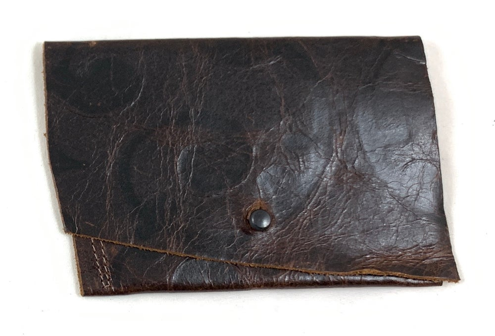 Image of pouch 2 (brown embossed floral)