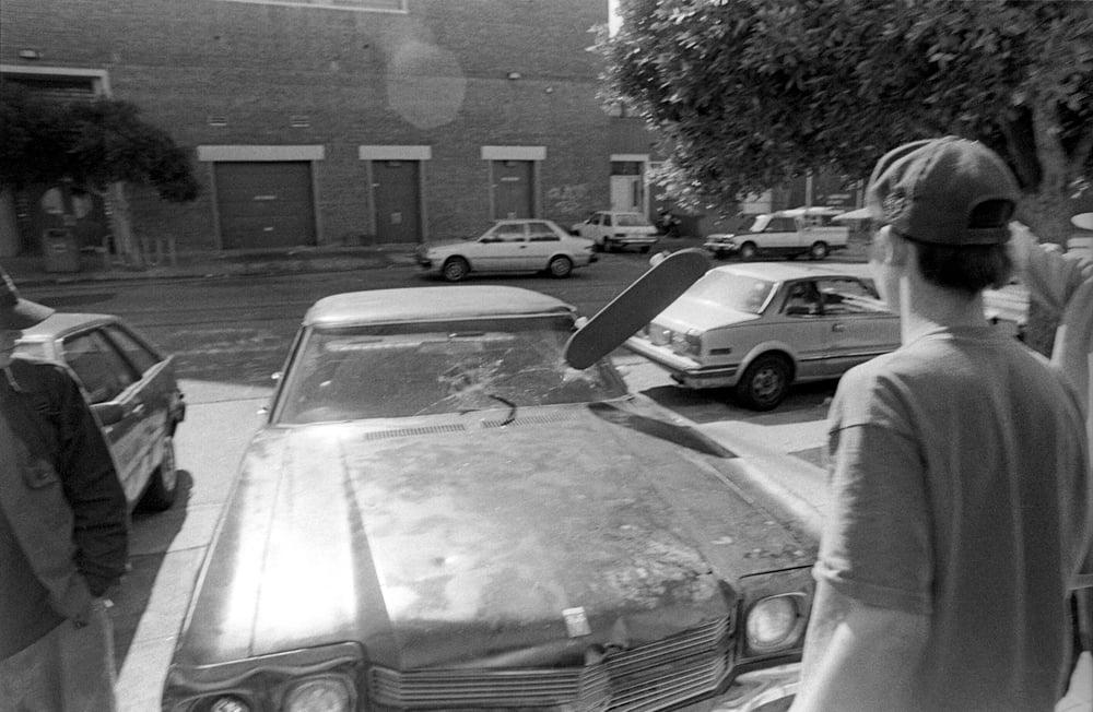 Skate Smash Window  1991 by Tobin Yelland