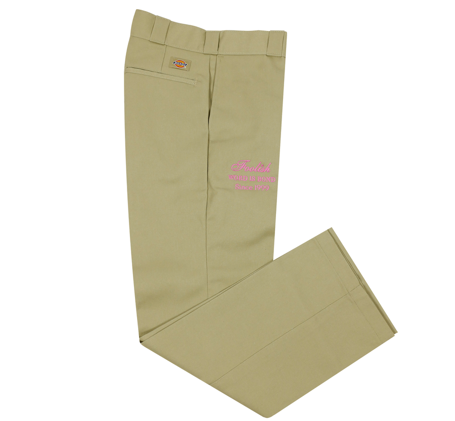 Image of Tri-Font Pant (Pink Thread)
