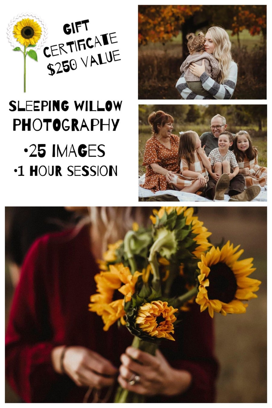 Image of Sleeping Willow Photography Session gift Certificate
