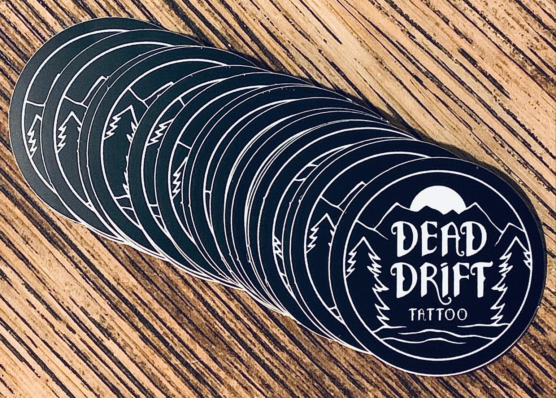 Image of Dead Drift Tattoo Mountain Sticker