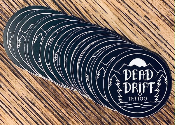 Image of Dead Drift Tattoo Mountain Sticker
