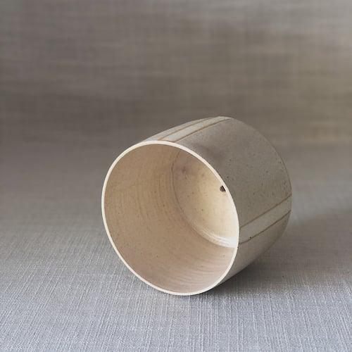 Image of EARTHY PINK STRIPY MEDIUM PLANTER
