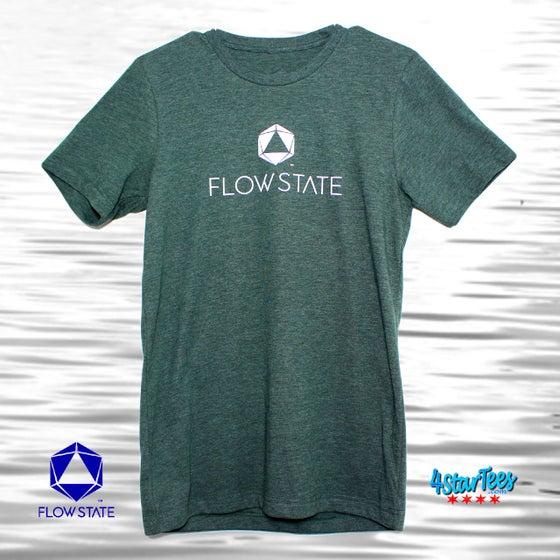 Image of FLOW STATE Reflective Athleisure Tee - Heather Forest Green