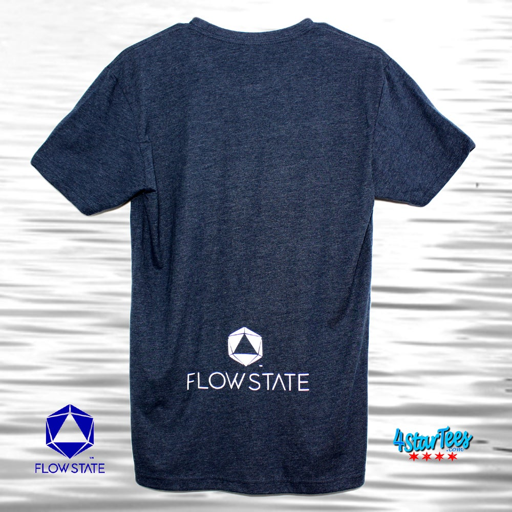 Image of FLOW STATE Reflective Athleisure Tee - Heather Navy