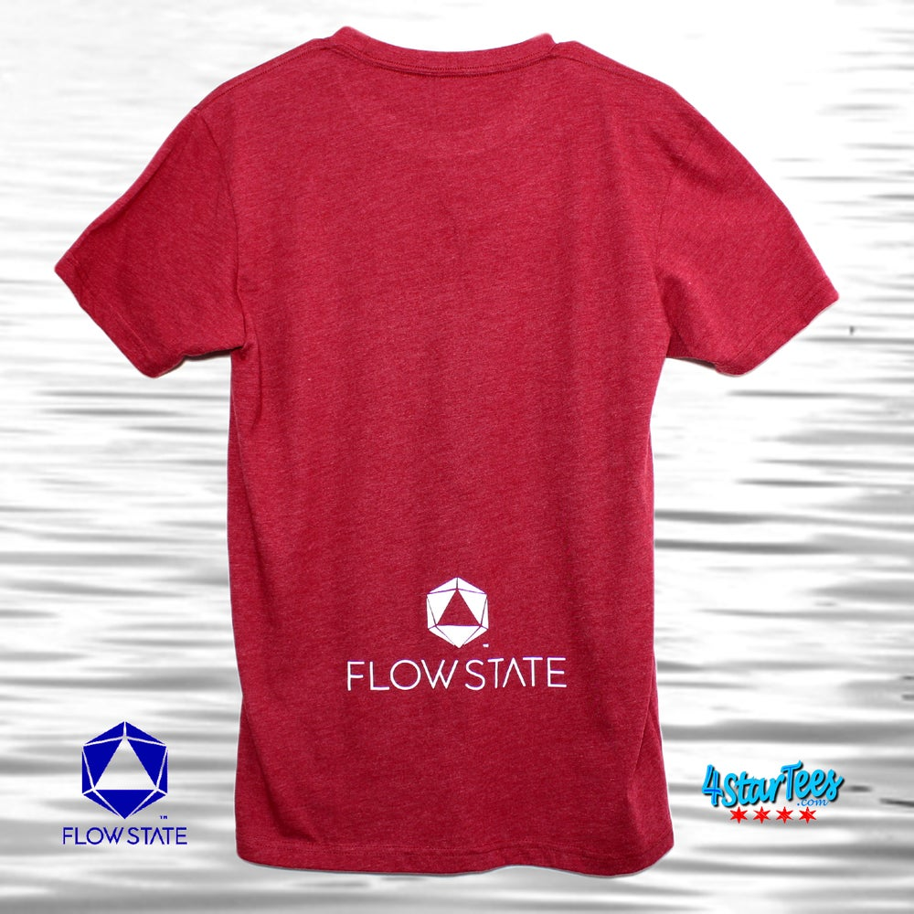 Image of FLOW STATE Reflective Athleisure Tee - Heather Cardinal