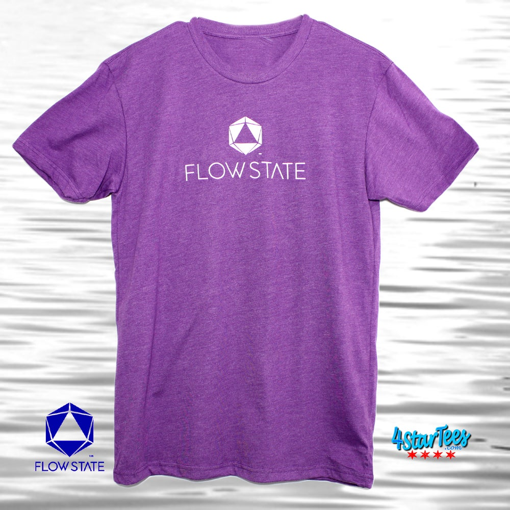 Image of FLOW STATE Reflective Athleisure Tee - Heather Purple