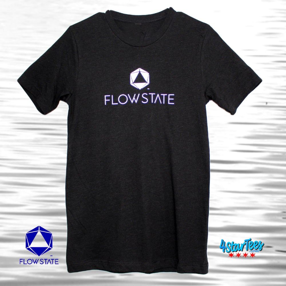 Image of FLOW STATE Reflective Athleisure Tee - Heather Black