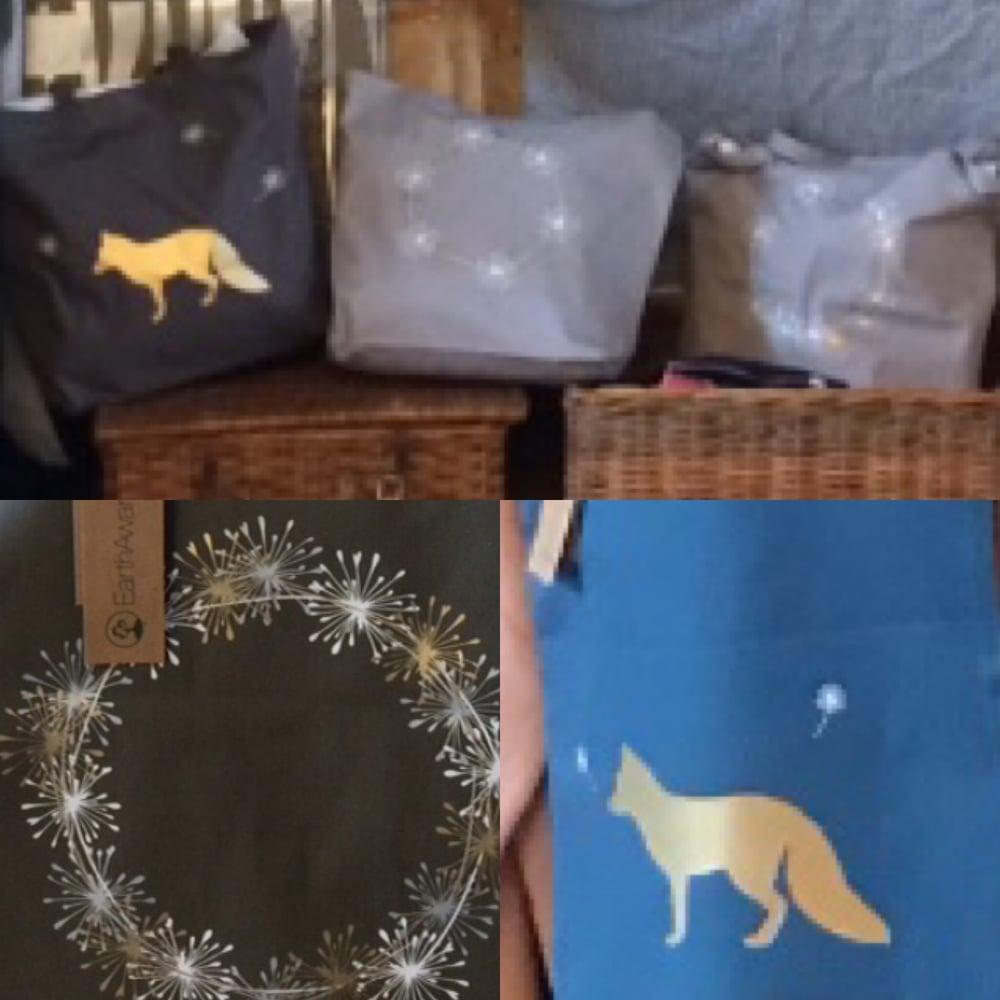 Image of Christmas organic tote bags