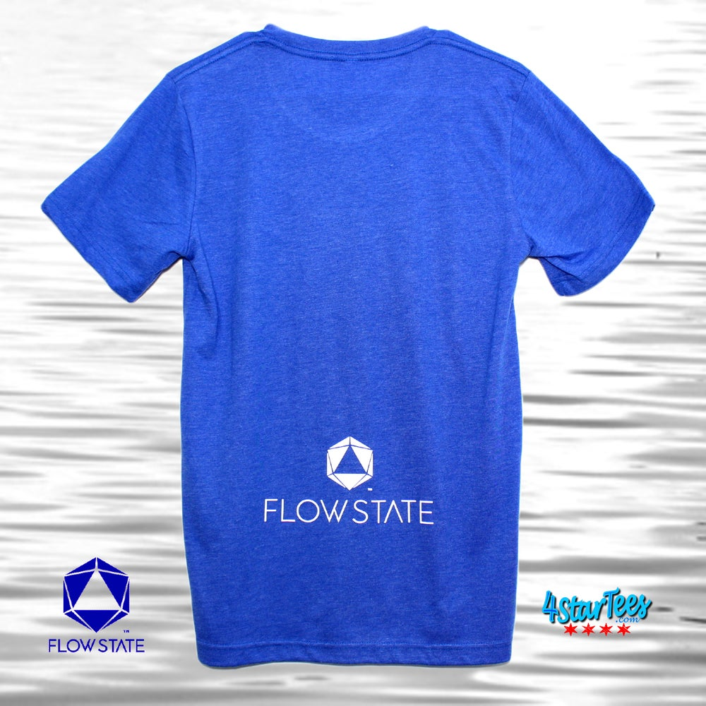 Image of FLOW STATE Reflective Athleisure Tee - Heather Royal Blue
