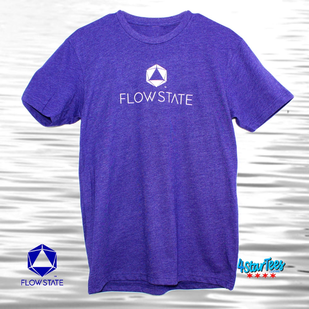 Image of FLOW STATE Reflective Athleisure Tee - Heather Storm