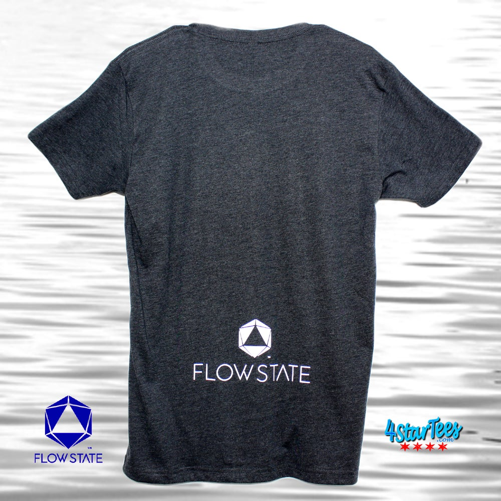 Image of FLOW STATE Reflective Athleisure Tee - Heather Charcoal