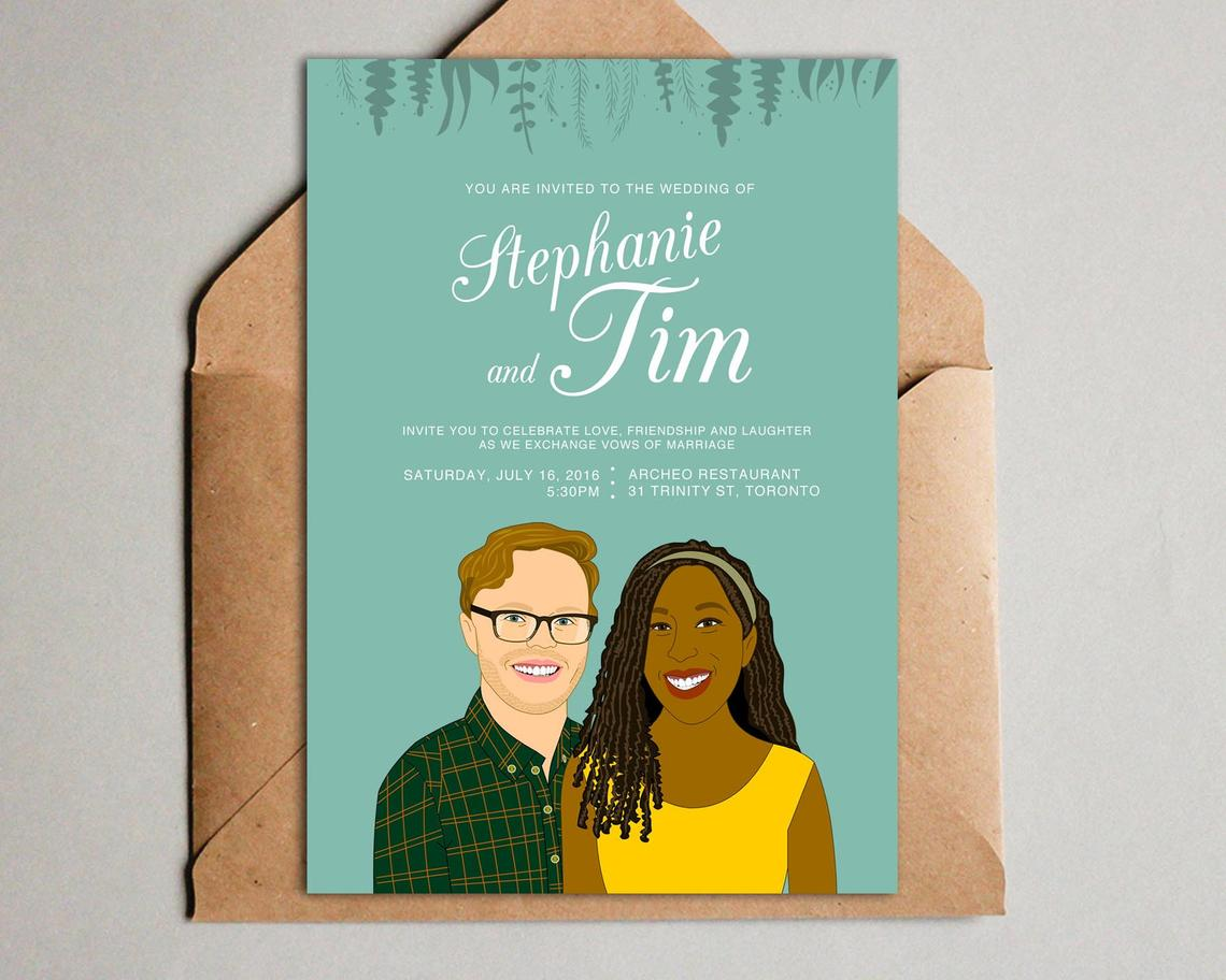 Image of Wedding invitation set. 3 pieces. Save the date, RSVP, Thank you card.