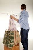 Image of Burlap Laundry Bag