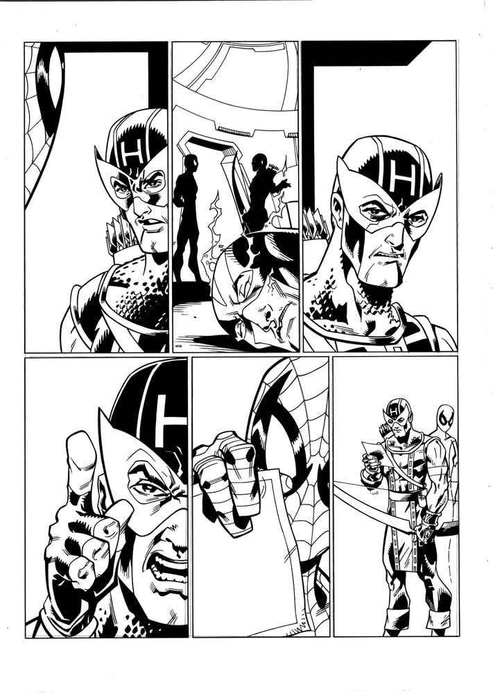 Image of Spectacular Spider-Man #212 Original Art