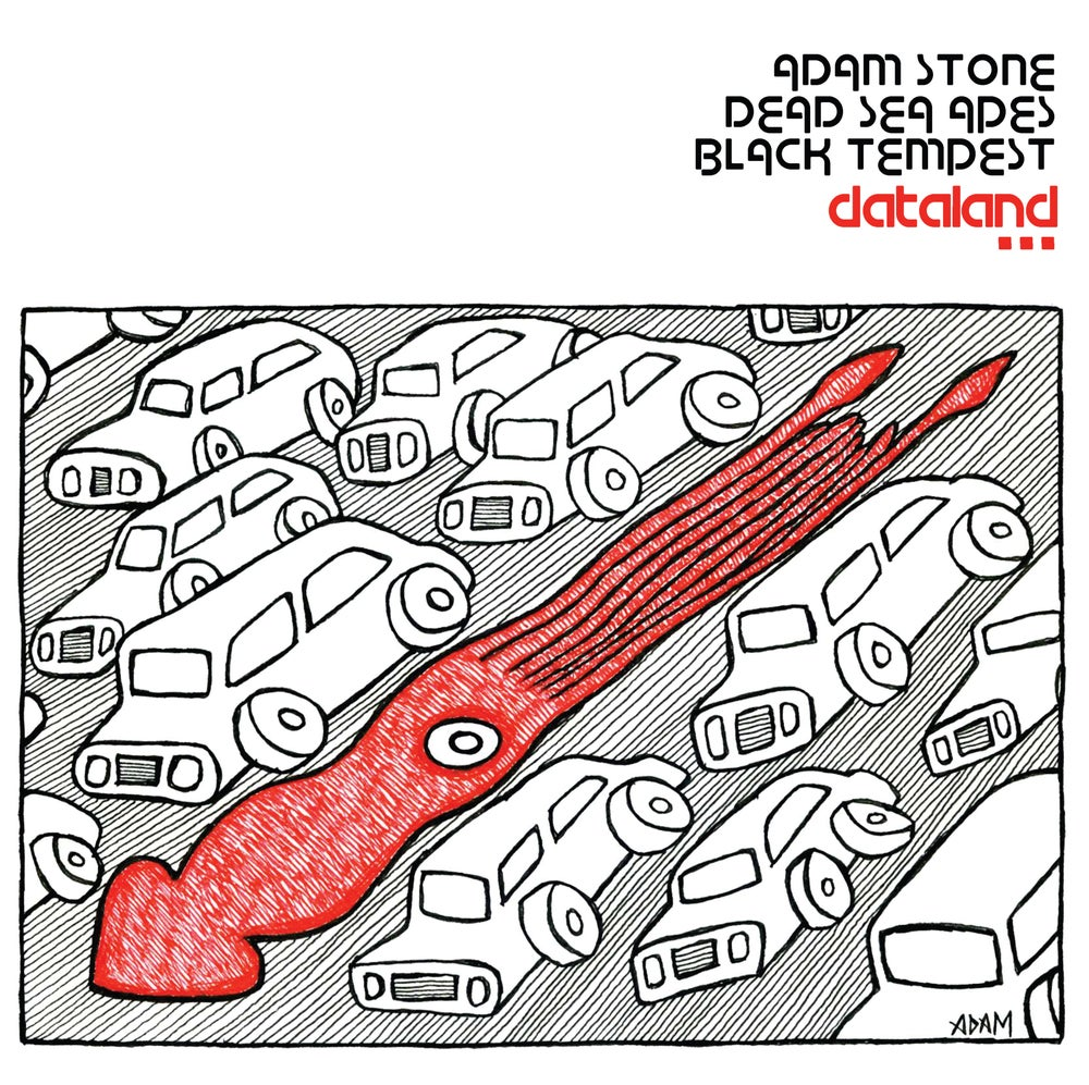 Image of Dead Sea Apes Adam Stone Black Tempest - Dataland (Ltd Cream Vinyl with Heavy Berry Splatter)10 LEFT