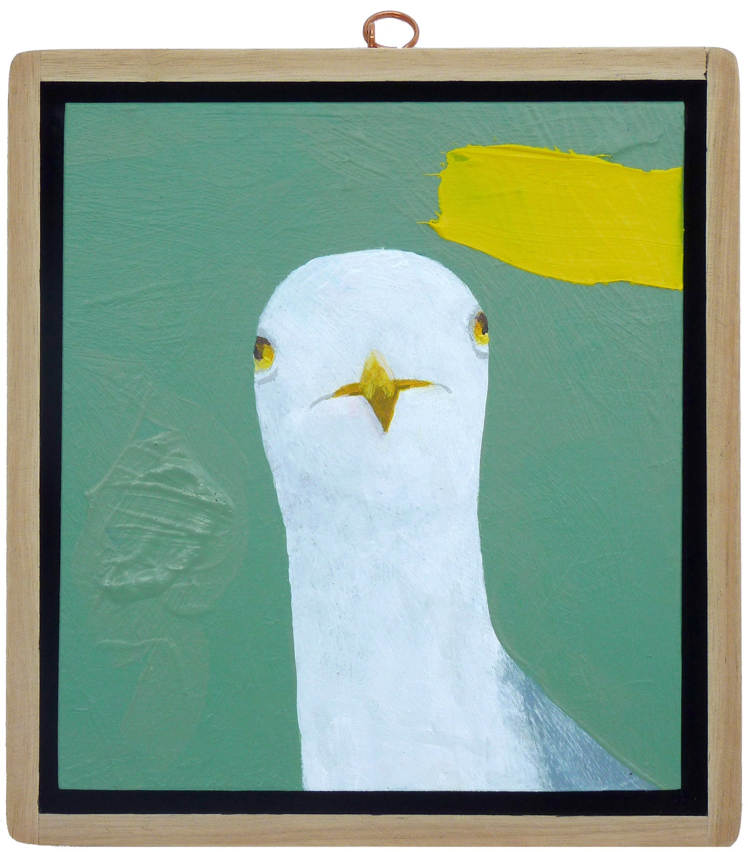 Image of Seagull With Yellow Splat