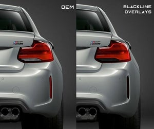 Image of BLACKLINE REAR REFLECTOR KIT FOR BMW M2 & M2 COMPETITION