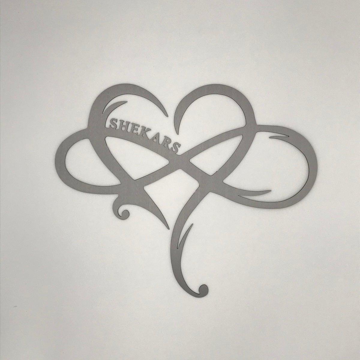 Infinity Heart - Customized - Name