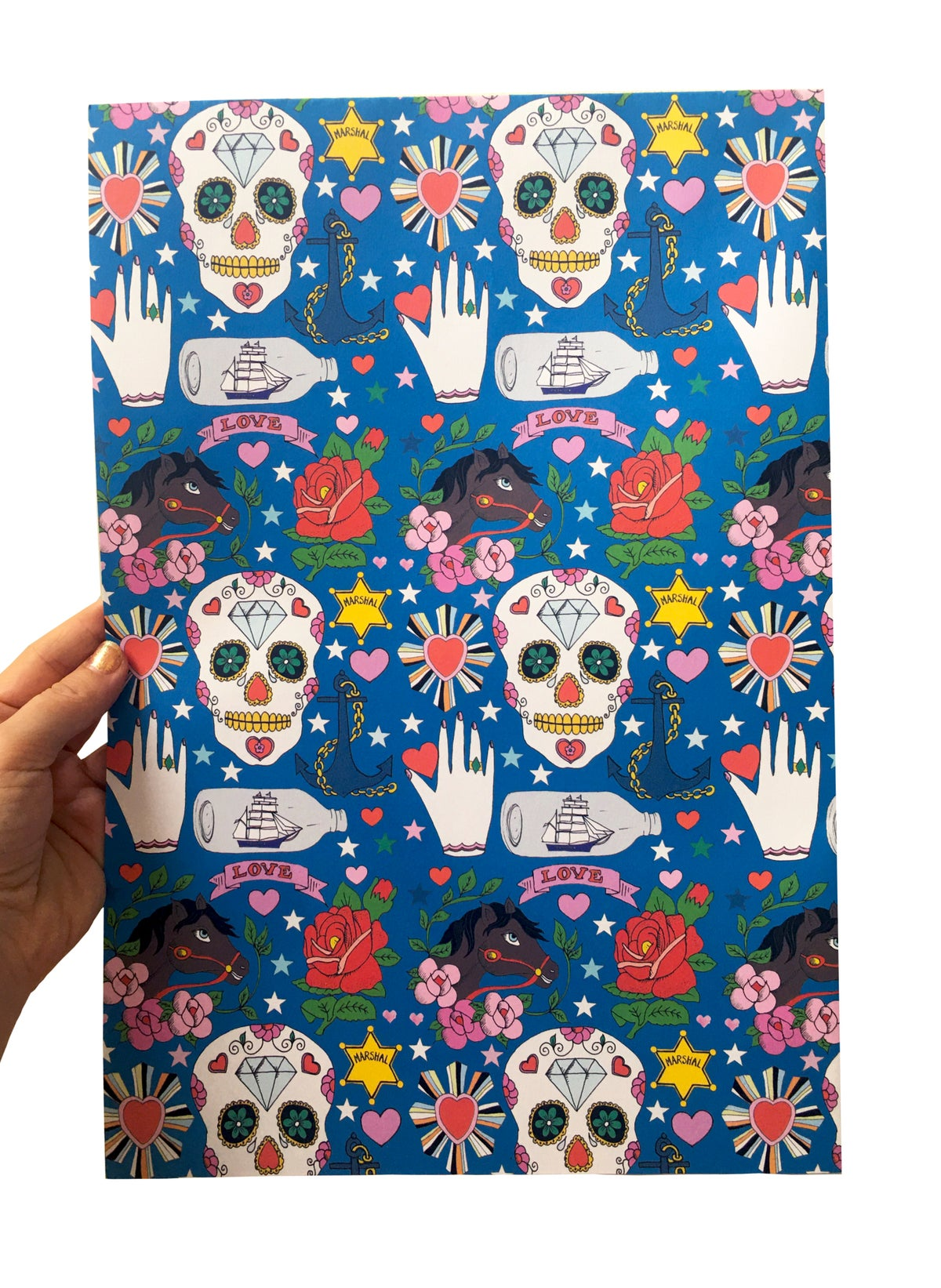 Skull Tattoo Wrapping Paper