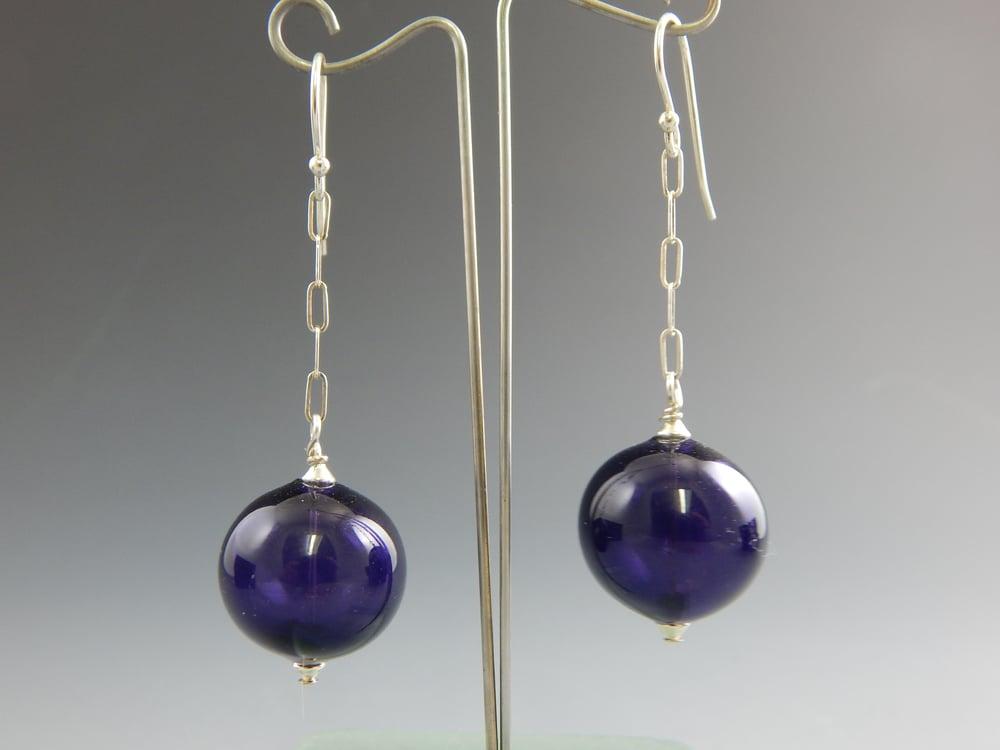 Image of Artisan Glass • Purple Drops
