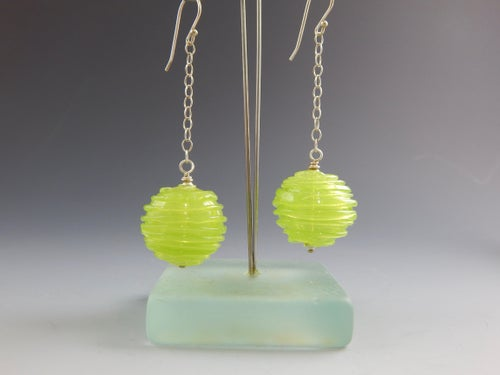 Image of Artisan Glass • Chartreuse Dangles