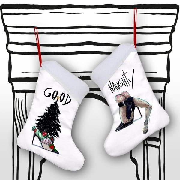Image of GOOD / NAUGHTY CHRISTMAS STOCKING