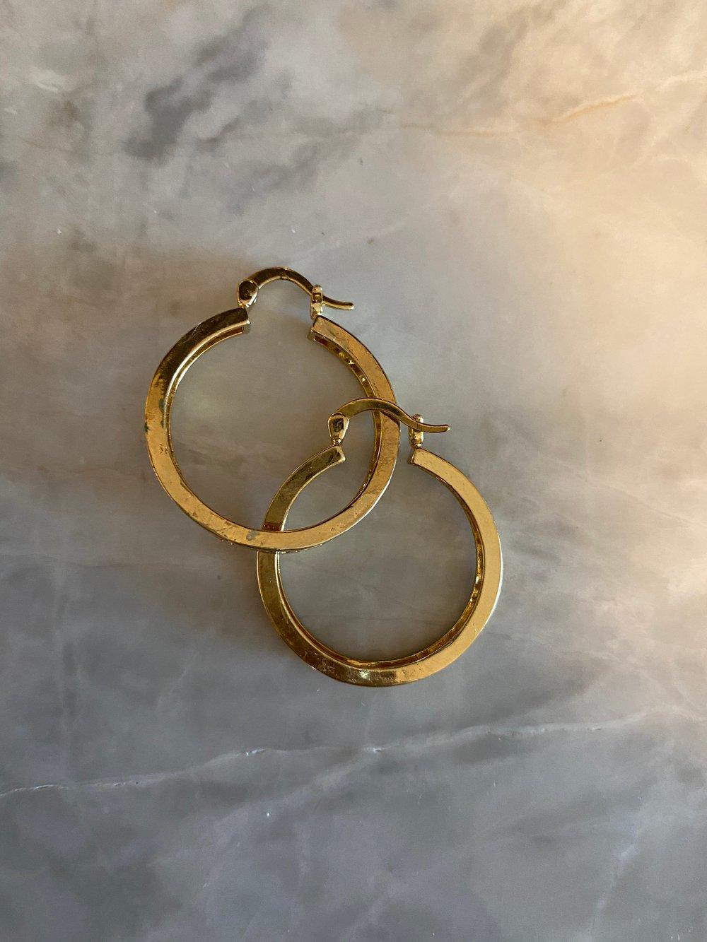 Mina hoops earrings