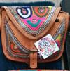 Saddle leather bag